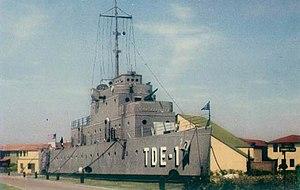 Naval Training Center San Diego - USS Recruit in its original configuration.