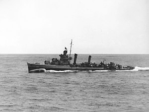 USS Swanson (DD-443) underway in November 1942.