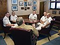 US Navy 040427-N-5477D-009 Rear Adm. Daniel L. Kloeppel, Deputy Commander, Naval Reserve Forces Command (foreground) speaks with Navy Reserve Force 2004 Sailor of the Year finalists.jpg