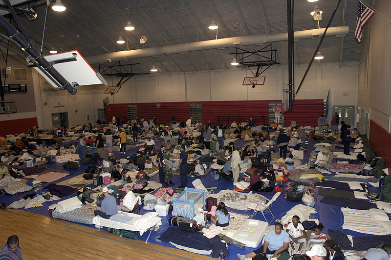File:US Navy 040915-N-4204E-026 The Red Cross shelter located at West Florida High School housed approximately 500 Pensacola residents who were seeking shelter from Hurricane Ivan.jpg
