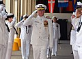 US Navy 070508-N-4965F-002 Adm. Robert F. Willard, former Vice Chief of Naval Operations, salutes as he's piped through the sideboys during a change of command ceremony.jpg