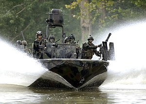 Special Operations Craft – Riverine (SOC-R) - Image: US Navy 070825 N 9769P 301 Special Warfare Combatant craft Crewmen (SWCC) transit the Salt River in northern Kentucky during pre deployment, live fire training