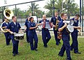 US Navy 090807-N-5207L-301 The U.S. 7th Fleet Dixieland Band performs for members of the Royal Brunei Armed Forces and U.S. Sailors and Marines during a Cooperation Afloat Readiness and Training (CARAT) Brunei 2009 sports day.jpg
