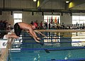 US Navy 100628-N-3215T-034 Naval Air Crewman 2nd Class Sean Small, from Destin, Fla., competes in the 50-meter breaststroke at Naval Air Facility Atsugi.jpg