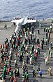 US Navy 101128-N-3793B-033 Sailors and Marines take part in a foreign object debris walk-down aboard the aircraft carrier USS Harry S. Truman (CVN.jpg
