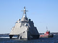 US Navy 111017-N-ZZ999-001 The littoral combat ship USS Independence (LCS 2) transits Narragansett Bay.jpg