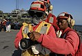US Navy 111124-N-KA046-073 Sailors train on flight deck during fire drill.jpg