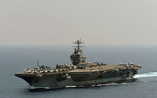 US Navy 120118-N-QH883-001 The Nimitz-class aircraft carrier USS Abraham Lincoln (CVN 72) transits the Indian Ocean.jpg