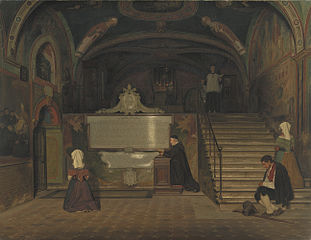 The Crypt in the Monastry of San Benedetto in Subiaco, Italy