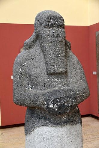 Assur - Unfinished basalt statue of Shalmaneser III. From Assur, Iraq. 858–824 BCE. Ancient Orient Museum, Istanbul