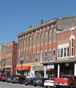 Union Block (Mount Pleasant, Iowa) - Union block, 2008, before fire and renovation