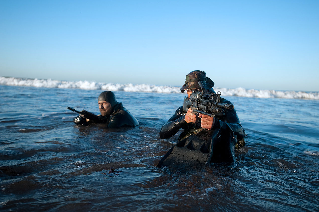 Military on Pinterest | Special Forces, Soldiers and Navy ...  |Navy Seals Emerging From Water