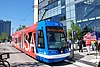 A streetcar built by United Streetcar
