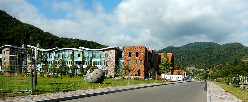 United World College of Dilijan & Wikipedia monument.jpg