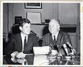 Unites States Senator Ted Kennedy with Mayor John F. Collins (12306708293).jpg