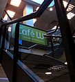 Up the stairs to Waterstones Cafe W, SUTTON, Surrey, Greater London.jpg