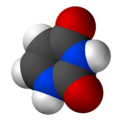Space-filling model of uracil