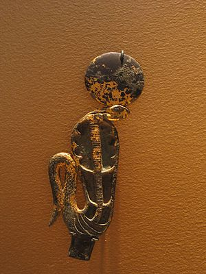 Uraeus - Uraeus with Solar Disk, 305-30 B.C.E.,51.147.2, Brooklyn Museum