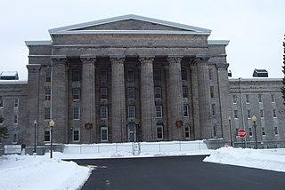 Utica Psychiatric Center historic building in New York state, USA