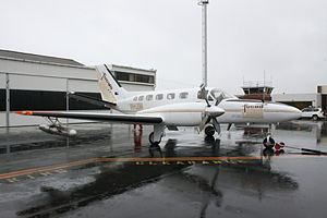 Cloud seeding - Cessna 441 Conquest II used to conduct cloud-seeding flights in the Australian state of Tasmania