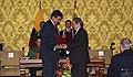 VII Encuentro Presidencial Ecuador-Venezuela. Entrega de créditos no reembolsables, suscripción de convenios y rueda de prensa (4465735015).jpg