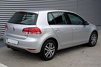 VW Golf hatchback.
