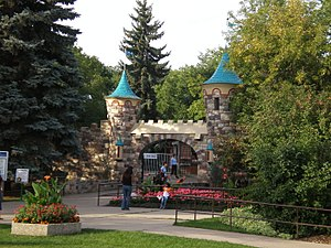 Edmonton Valley Zoo - The main gates