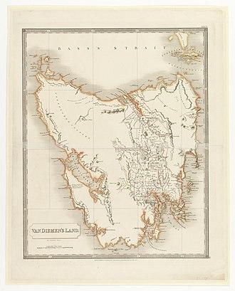 Van Diemen's Land - 1828 map