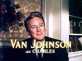 Van Johnson in de trailer van The Last Time I Saw Paris (1954).