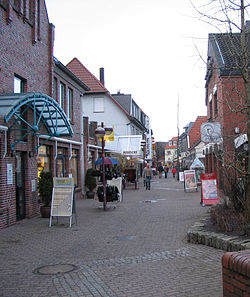 Pedestrian area in Varel