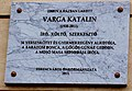 Varga Katalin emléktábla Ferencvárosban.jpg