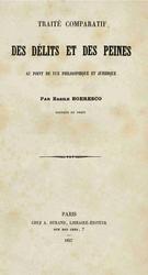 Vasile Boerescu: Traité comparatif des délits et des peines au point de vue philosophique et juridique