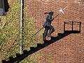 Venray Geijsteren, sculptuur De Gildebroeder (detail), door kunstmanifestatie Geysteren ca. 1996.JPG