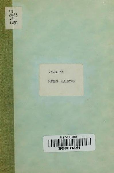 File:Verlaine - Fêtes galantes, 1891.djvu