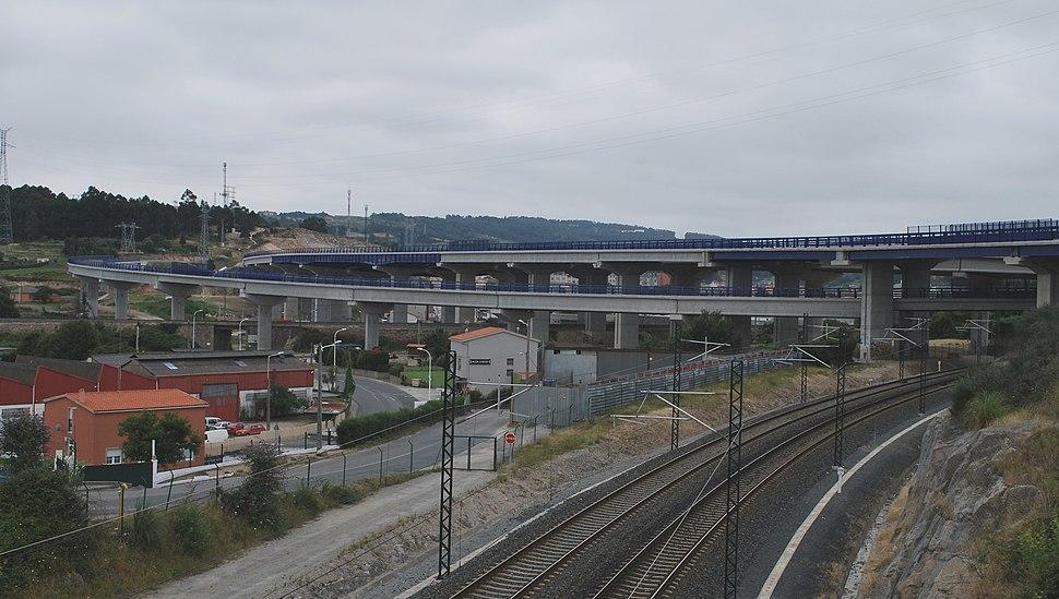 Unión da AC-14 coa Ronda do RC Deportivo da Coruña á altura do polígono