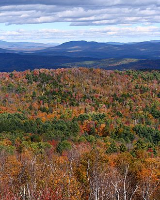 Gile Mountain - A view of Vermont's autumn foliage from the Gile Mountain fire tower