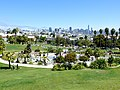 View from top of Mission Dolores Park, SF (July 2017).jpg