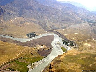 Khwahan District - Thetwo villages Kamar and Kaji, and Panj river.