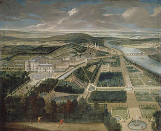 Château de Saint-Cloud - The château and gardens, c. 1720