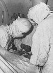 View of the operating room aboard USS Wichita (CA-45), in World War II.jpg
