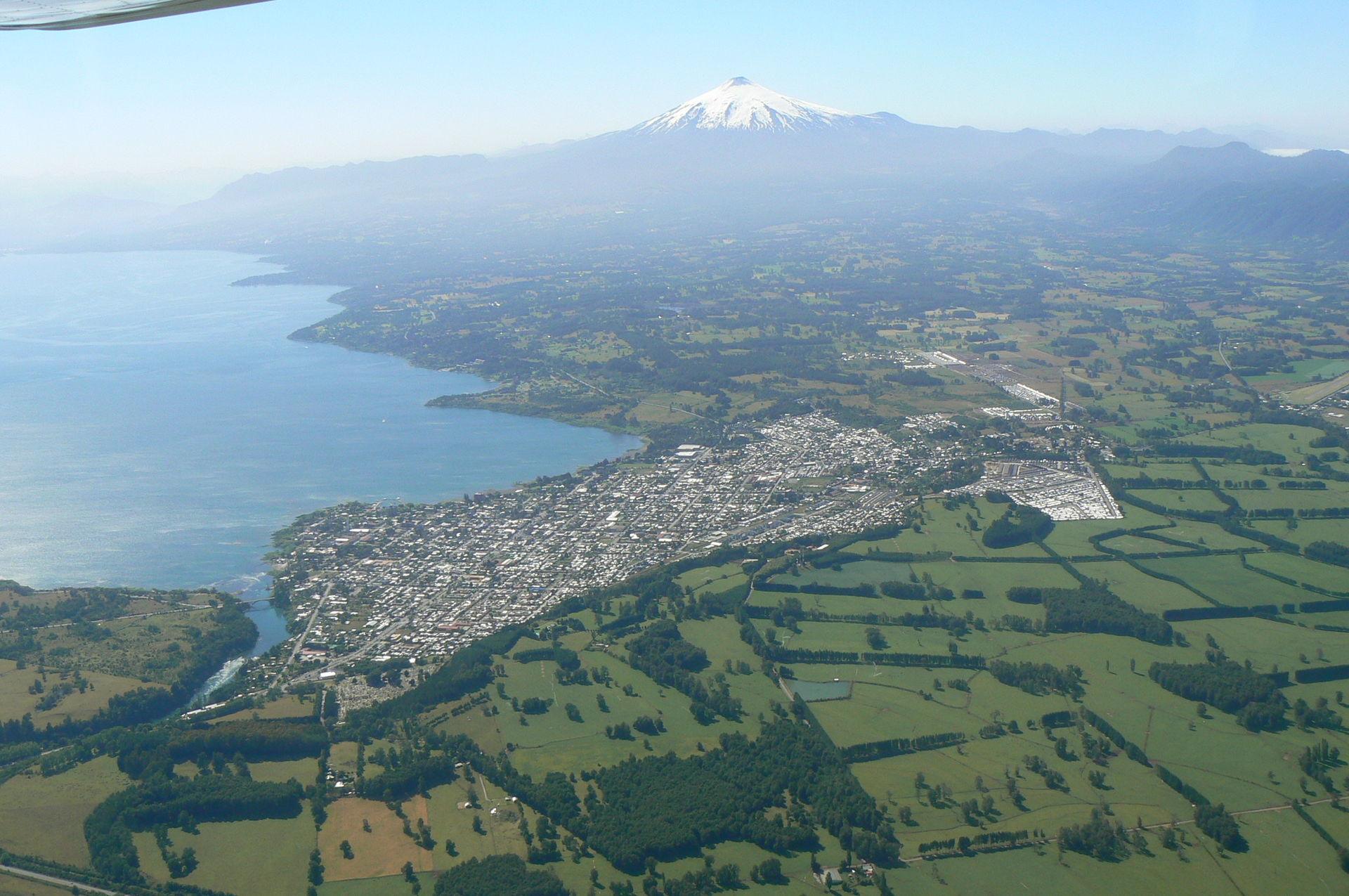 Ruta para ir de Villarrica a Santiago de Chile