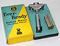 Vintage Ever-Ready Chromium Plated Single Edge Safety Razor, American Safety Razor Corporation, Made In USA, The NRA (National Recovery Administration) Code Logo On Box Dates The Razor To 1933 - 1935 (26856162667).jpg