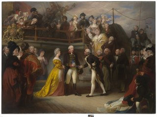 Visit of George III to Howe's Flagship, the 'Queen Charlotte', on 26 June 1794