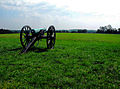 Visitor Center cannon overlooking Monocacy National Battlefield.jpg