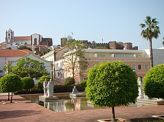 Silves, Portugal - A view of the historical centre of Silves overlooking the Castle and Cathedral