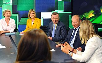 RT (TV network) - Vladimir Putin with journalists