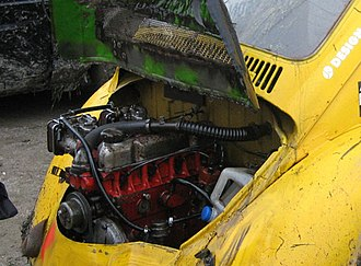 Engine swap - Volvo B18/B20 fitted to VW Beetle for racing.