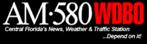 WDBO (AM) - Former logo used from 1997 through December 2001. Stylized similarly to the current logo for one-time sister station KFI in Los Angeles.