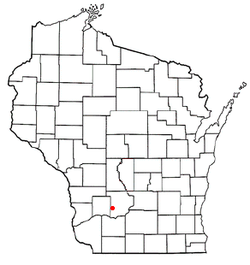 Location of Bear Creek, Sauk County, Wisconsin