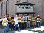 WI Union activists protest outside McCain Town Hall in Racine, July 31, 2008 (2722997844).jpg